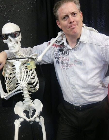 Dr Joe with anatomy pal