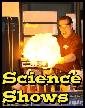 MaD Scientist Joe shows a ball of flame